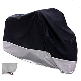 All Season Black Waterproof Sun Motorcycle Cover,Fits up to