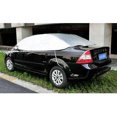 Factory wholesale 170T Polyester Half Car Cover Sun Shade Ca